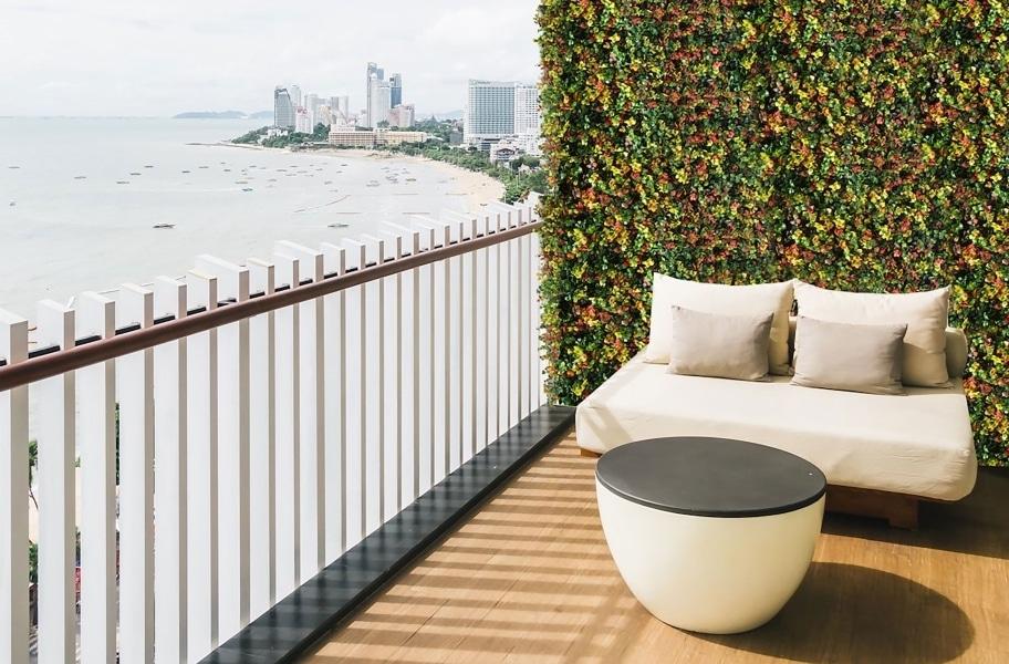 Ivy walls rooftop